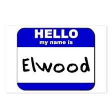hello my name is elwood  Postcards (Package of 8)