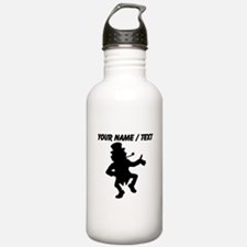 Custom Dancing Leprechaun Silhouette Water Bottle