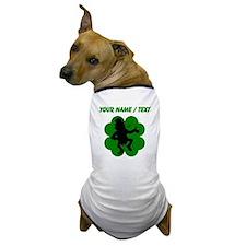 Custom Dancing Leprechaun Shamrock Dog T-Shirt