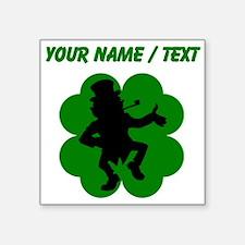 Custom Dancing Leprechaun Shamrock Sticker