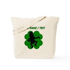 Custom Dancing Leprechaun Shamrock Tote Bag