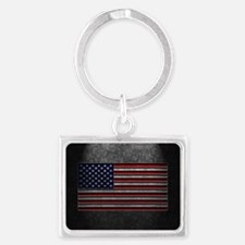 American Flag Stone Texture Keychains