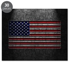 American Flag Stone Texture Puzzle