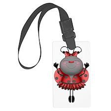 Dancing Ladybug Ballerina Luggage Tag