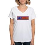 Cuban American 2.0 Women's V-Neck T-Shirt