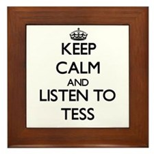 Keep Calm and listen to Tess Framed Tile