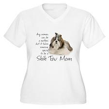Shih Tzu Mom Plus Size T-Shirt