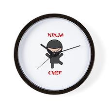 Ninja Chef Wall Clock