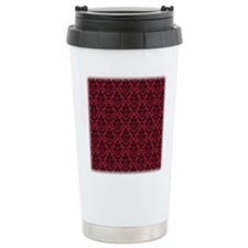 Chili Pepper & Black Damask #36 Travel Mug