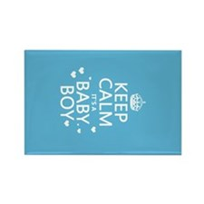 Keep Calm It's A Baby Boy Magnets