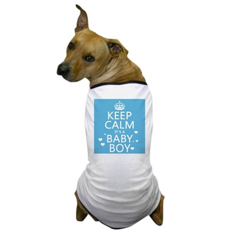 Keep Calm It's A Baby Boy Dog T-Shirt