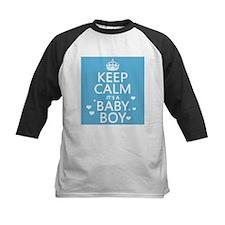 Keep Calm It's A Baby Boy Baseball Jersey