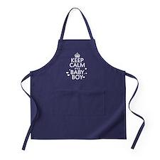 Keep Calm It's A Baby Boy Apron (dark)