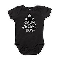 Keep Calm It's A Baby Boy Baby Bodysuit