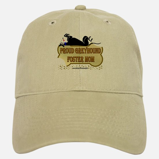 PROUD GREYHOUND FOSTER MOM Baseball Baseball Cap