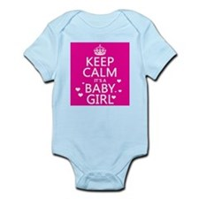 Keep Calm It's a Baby Girl Body Suit