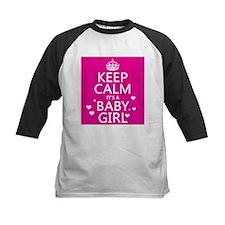 Keep Calm It's a Baby Girl Baseball Jersey
