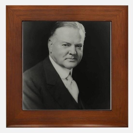 Herbert Hoover Framed Tile