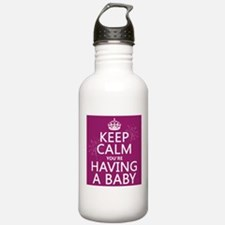 Keep Calm Youre Having a Baby Sports Water Bottle