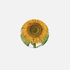 Vintage Sunflower Basilius Besler Mini Button