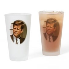John F. Kennedy Drinking Glass