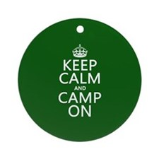 Keep Calm and Camp On Ornament (Round)