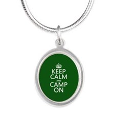 Keep Calm and Camp On Necklaces