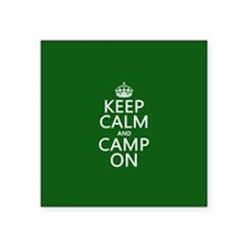 Keep Calm and Camp On Sticker