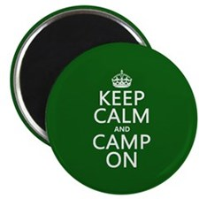 Keep Calm and Camp On Magnets