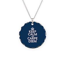 Keep Calm and Carpe Diem Necklace