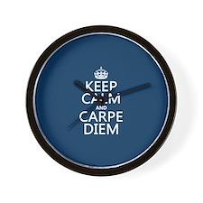 Keep Calm and Carpe Diem Wall Clock