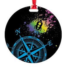 Blue Compass Ornament