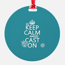 Keep Calm and Cast On Ornament