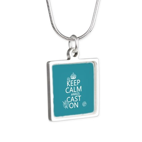 Keep Calm and Cast On Necklaces