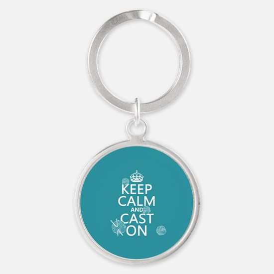 Keep Calm and Cast On Keychains