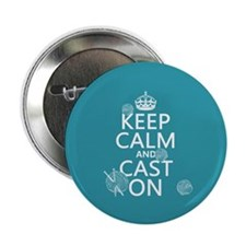"Keep Calm and Cast On 2.25"" Button (10 pack)"