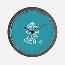 Keep Calm and Cast On Wall Clock