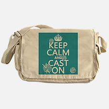 Keep Calm and Cast On Messenger Bag