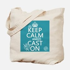 Keep Calm and Cast On Tote Bag