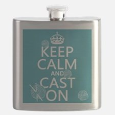 Keep Calm and Cast On Flask