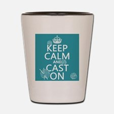 Keep Calm and Cast On Shot Glass
