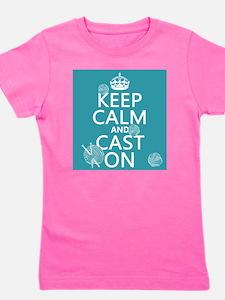 Keep Calm and Cast On Girl's Tee