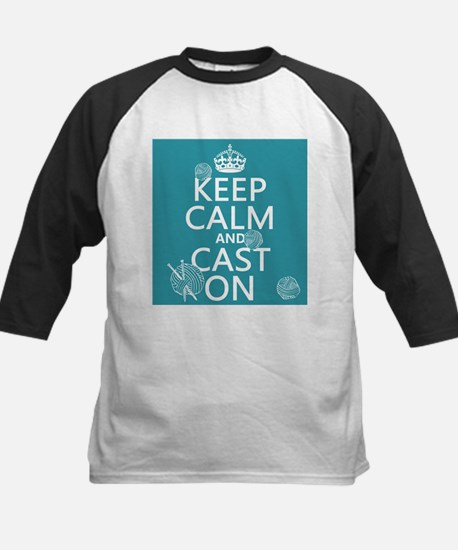Keep Calm and Cast On Baseball Jersey