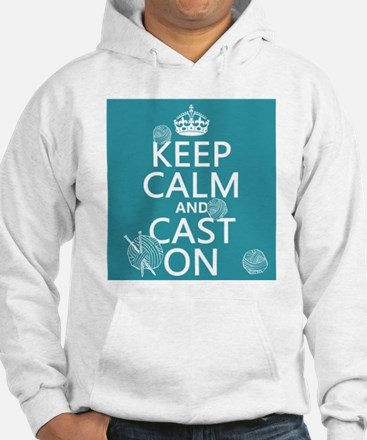 Keep Calm and Cast On Jumper Hoody