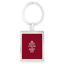 Keep Calm and Keep Fit Keychains