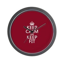 Keep Calm and Keep Fit Wall Clock