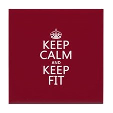 Keep Calm and Keep Fit Tile Coaster