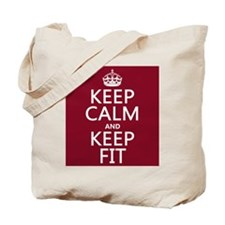 Keep Calm and Keep Fit Tote Bag