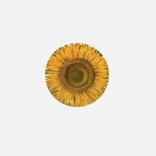 Vintage Sunflower Basilius Besler Mini Button