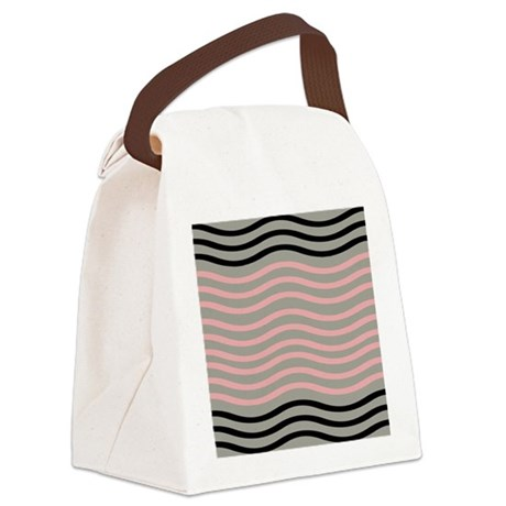 Cool Wave Pattern Canvas Lunch Bag